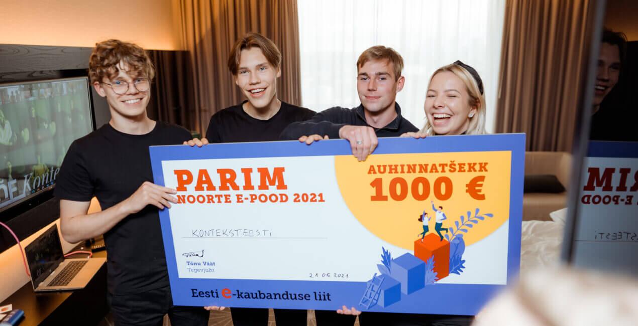 Õpilasfirmade konkursil selgusid Eesti parimad noorte tehtud e-poed