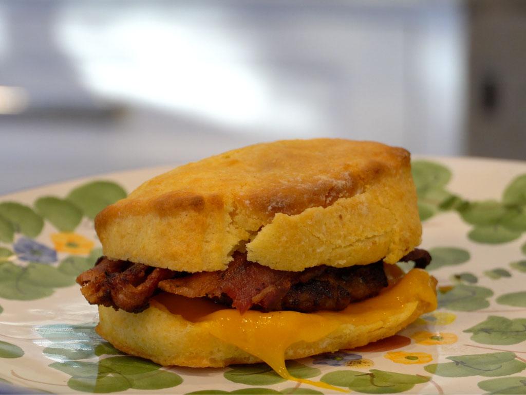 Butter Biscuit Breakfast Sandwich! (HOMEMADE BISCUITS)
