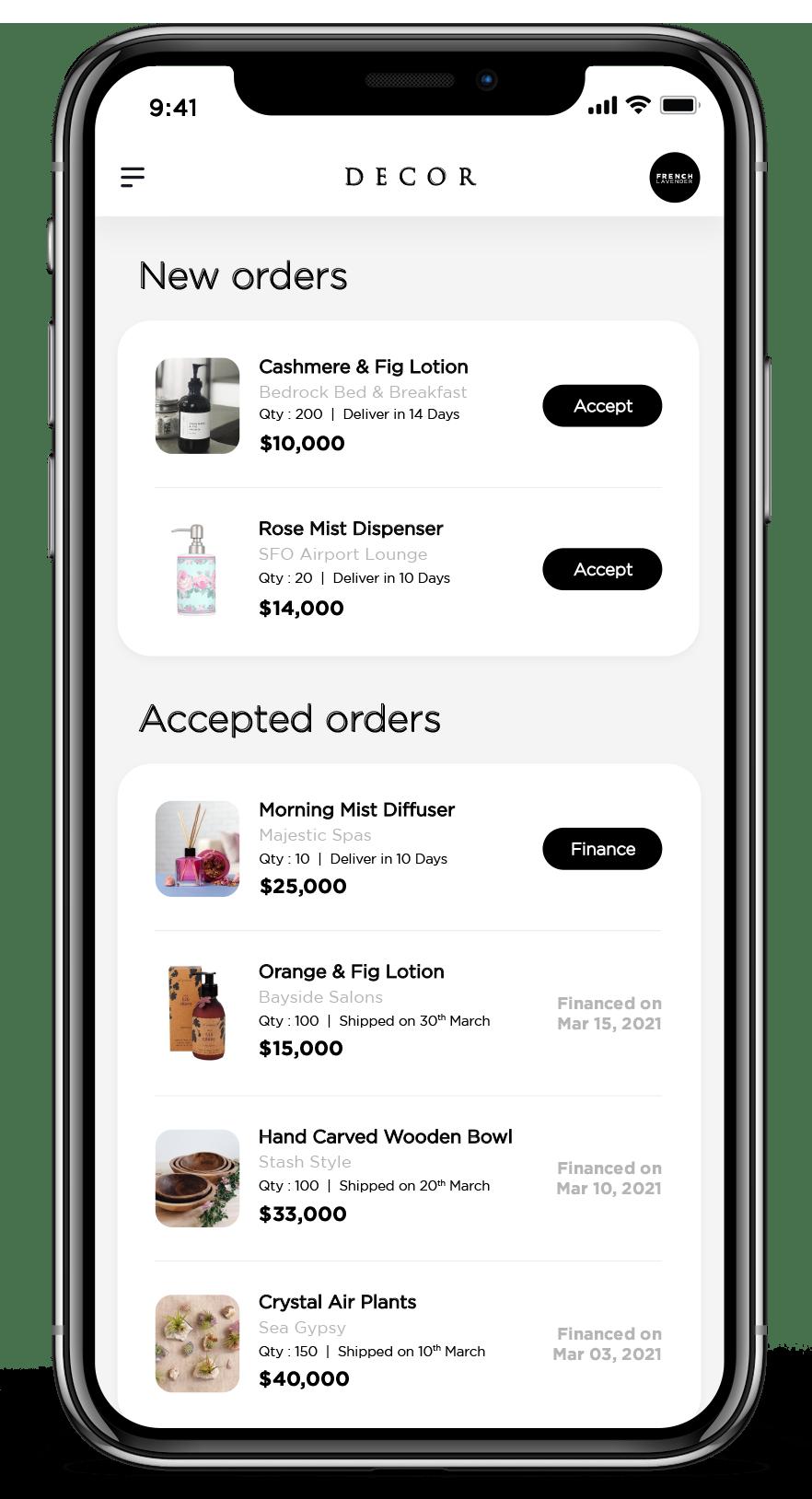 Mock-up of marketplace using Vaya services