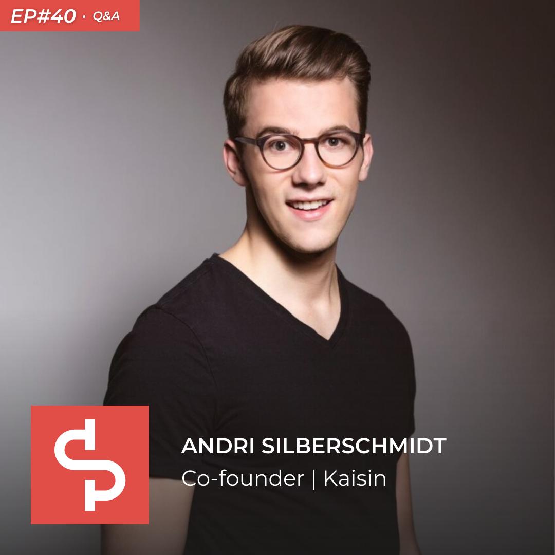 Andri Silberschmidt, co-founder Kaisin, Swisspreneur Show