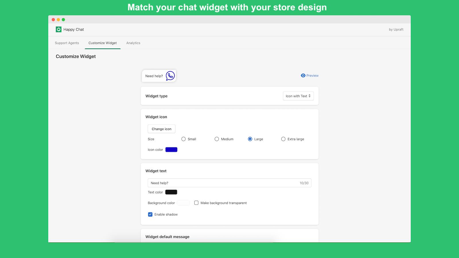 HappyChat_ShopifyApp_CustomizeDesign