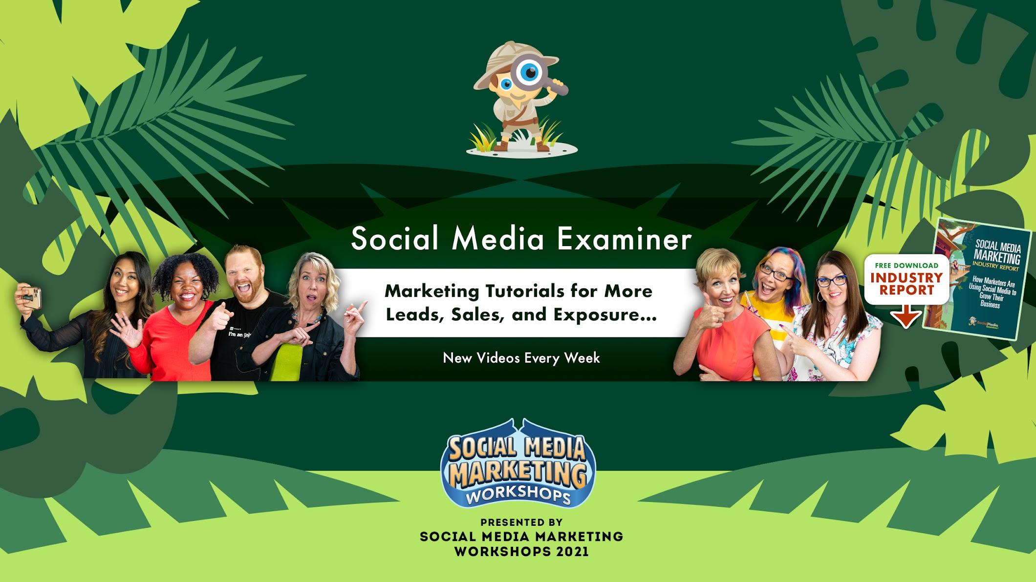 Social Media Examiner- eCommerce Youtube Channels 2021