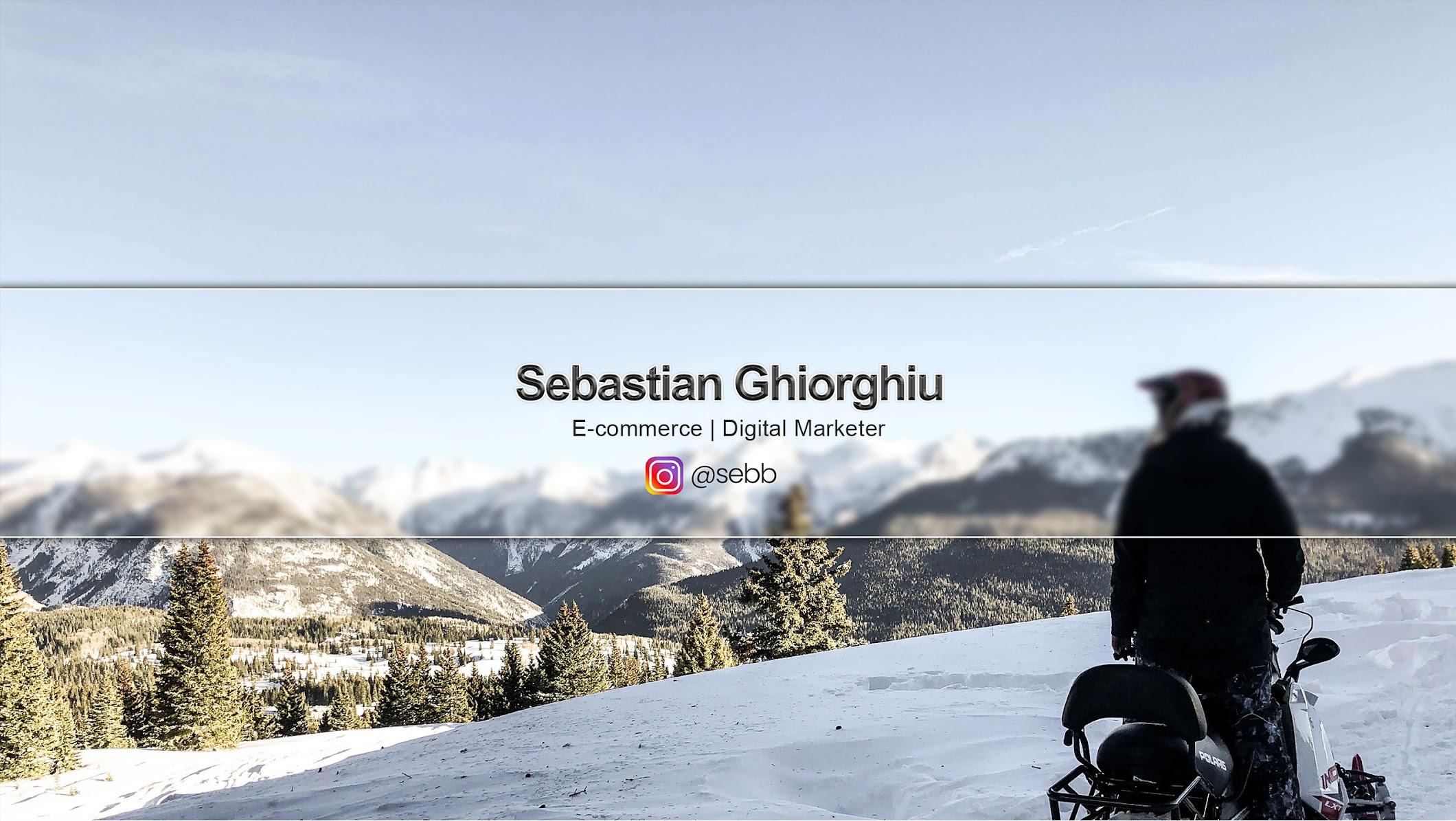 Sebastian Ghiorghiu- eCommerce Youtube Channels 2021