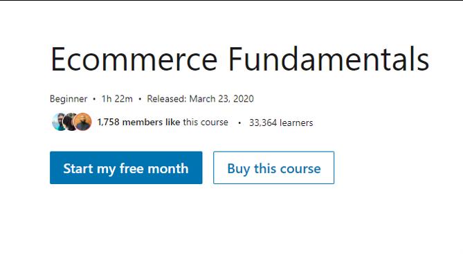 eCommerce Fundamentals - eCommerce Courses 2021