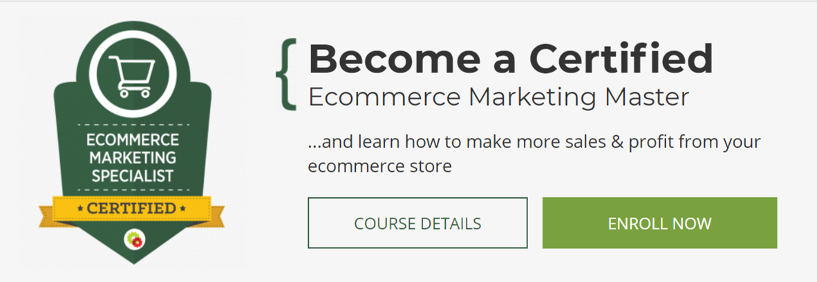 Certified eCommerce Marketing Specialist- eCommerce Courses 2021