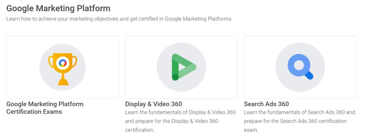 Google Marketing Platform- eCommerce Courses 2021