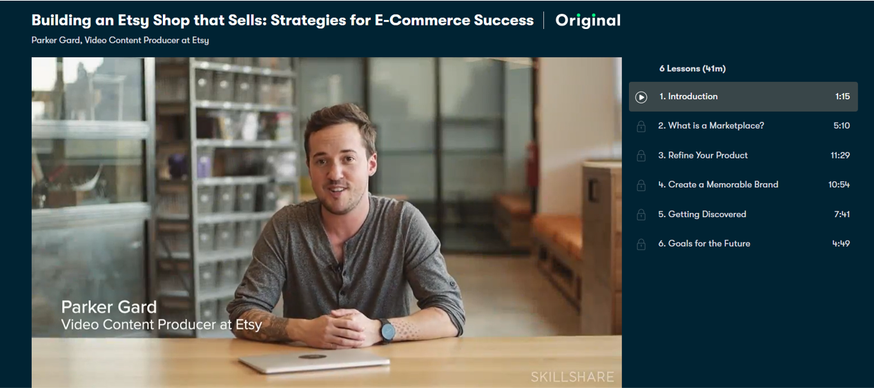 Building an Etsy Shop that Sells: Strategies for E-commerce Success- eCommerce Courses 2021