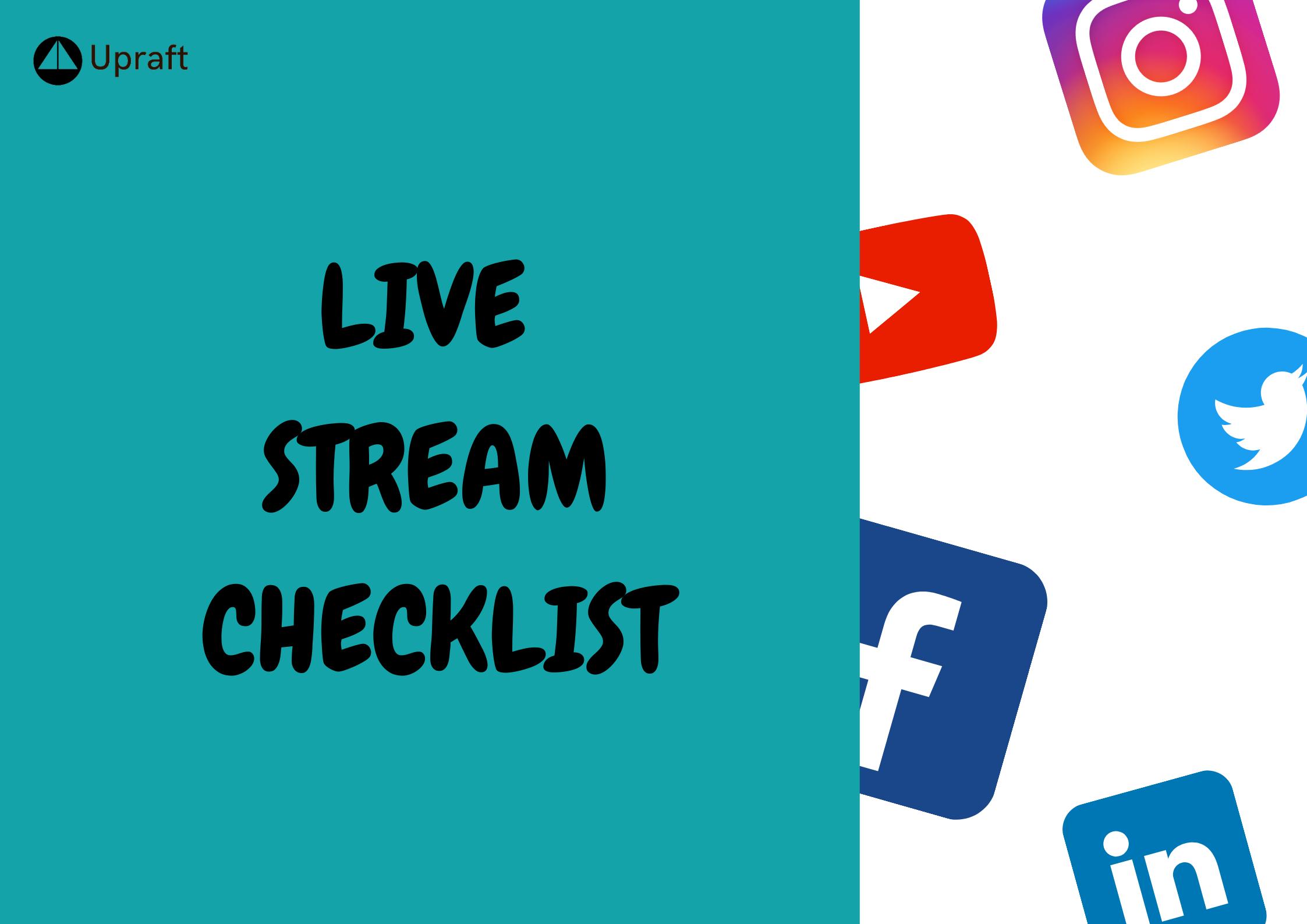 Checklist for Successful Live Stream