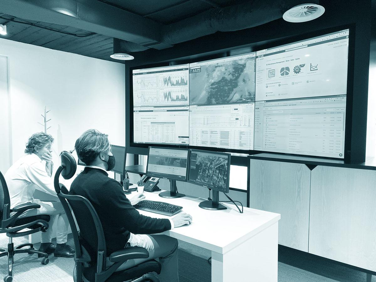 Exus' control center in Madrid.