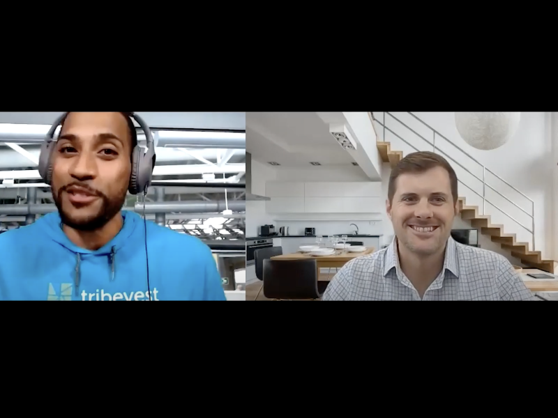 Screenshot of interview with tribe founder
