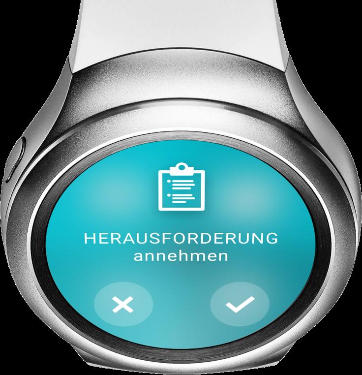 "Smartwatch ""Herausforderung annehmen"" – ReAct ""Call to Action"" App"