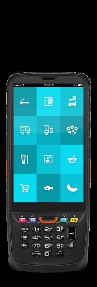 """MDE Scanner mit ReAct """"Call to action"""" App für den Einzelhandel."""