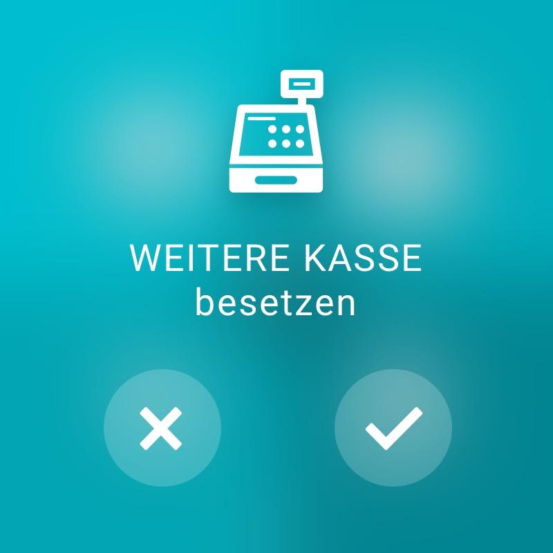 Weitere Kasse besetzen - ReAct Watch User Interface Retail