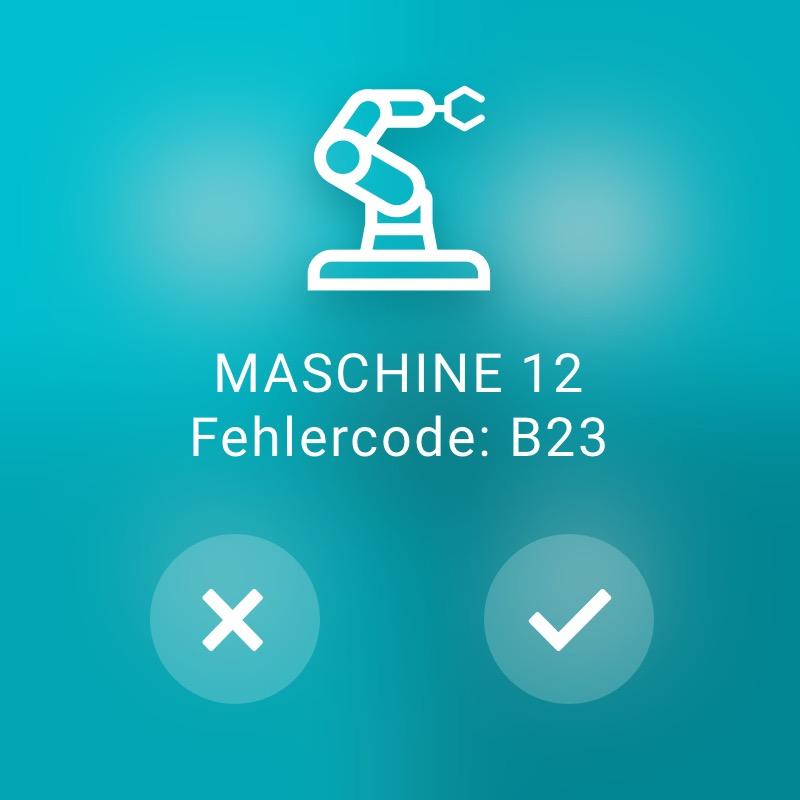 Maschine mit Fehlercode - ReAct Watch User Interface Industry