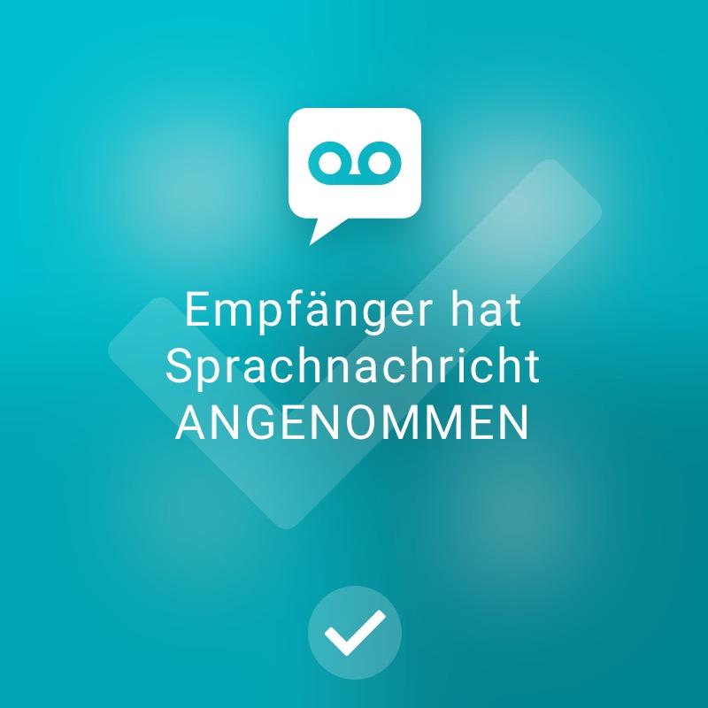 Empfänger hat Sprachnachricht angenommen - ReAct Watch User Interface Industry