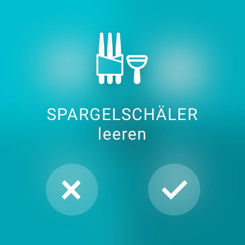 Spargelschäler prüfen - ReAct Watch User Interface Retail