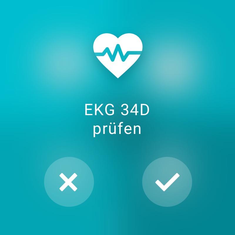 EKG prüfen - ReAct Watch User Interface Healthcare