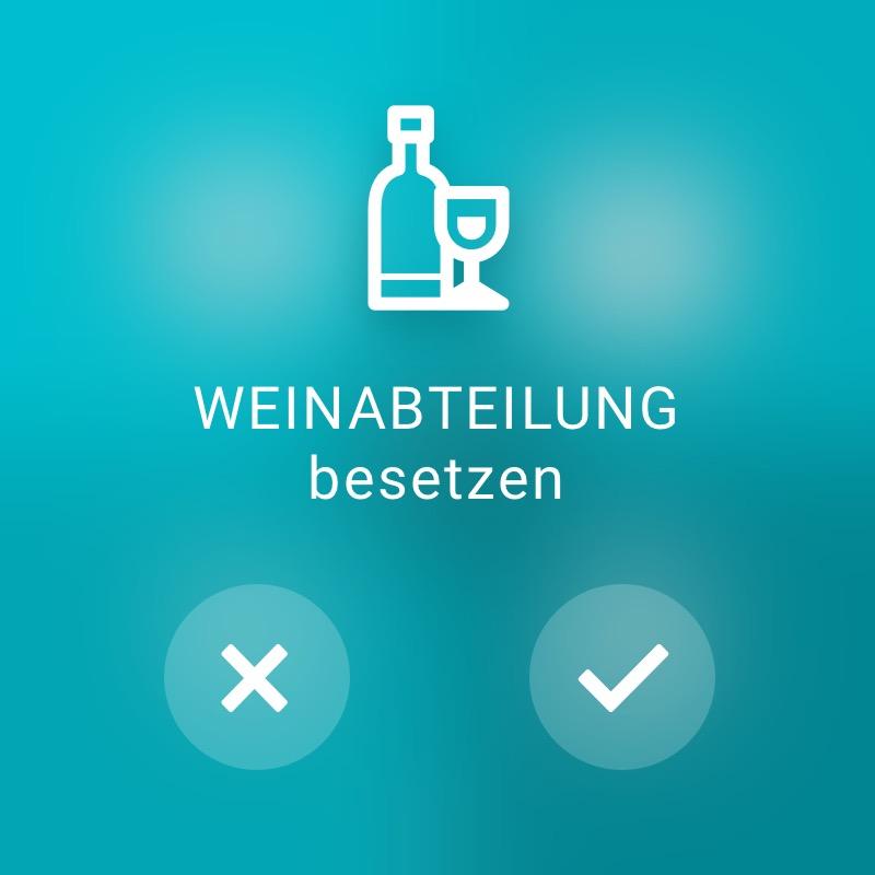 Weinabteilung besetzen - ReAct Watch User Interface Retail