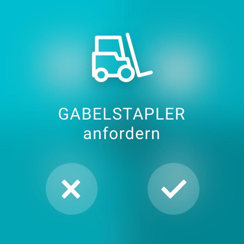 Gabelstapler anfordern - ReAct Watch User Interface Industry