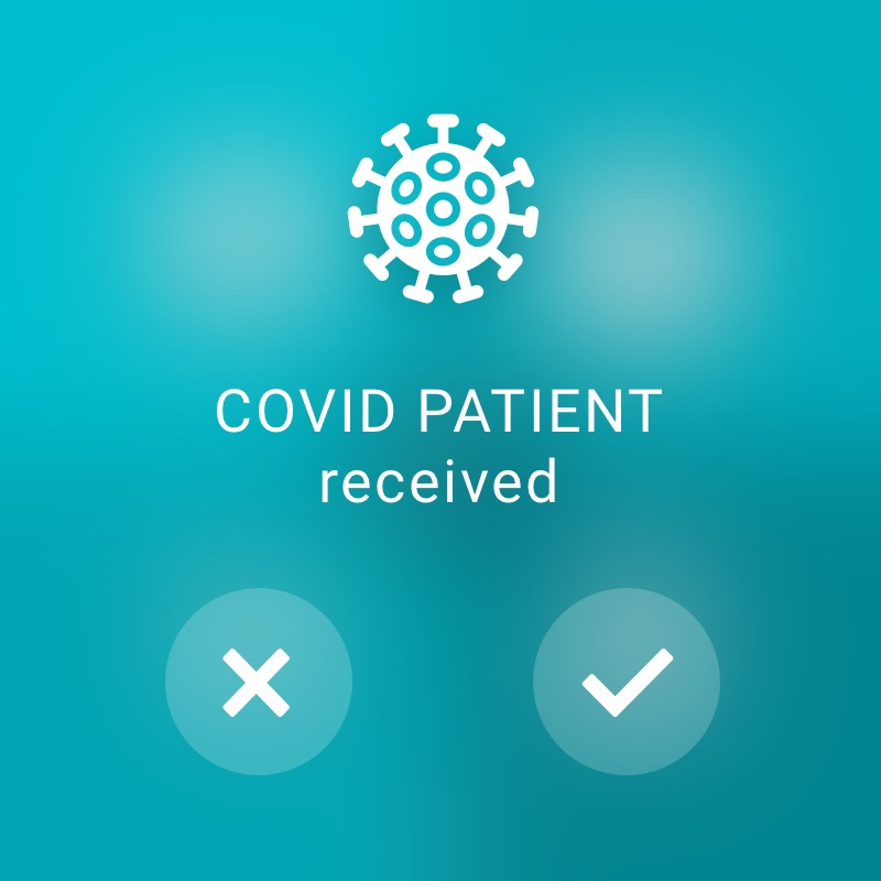 Covid Patient incoming - ReAct Watch User Interface Healthcare