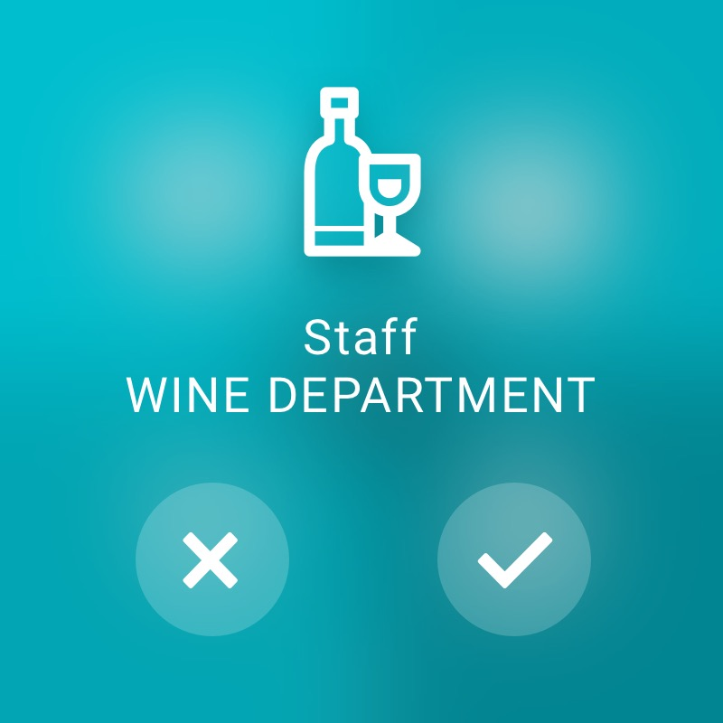 Occupy wine department - ReAct Watch User Interface Retail