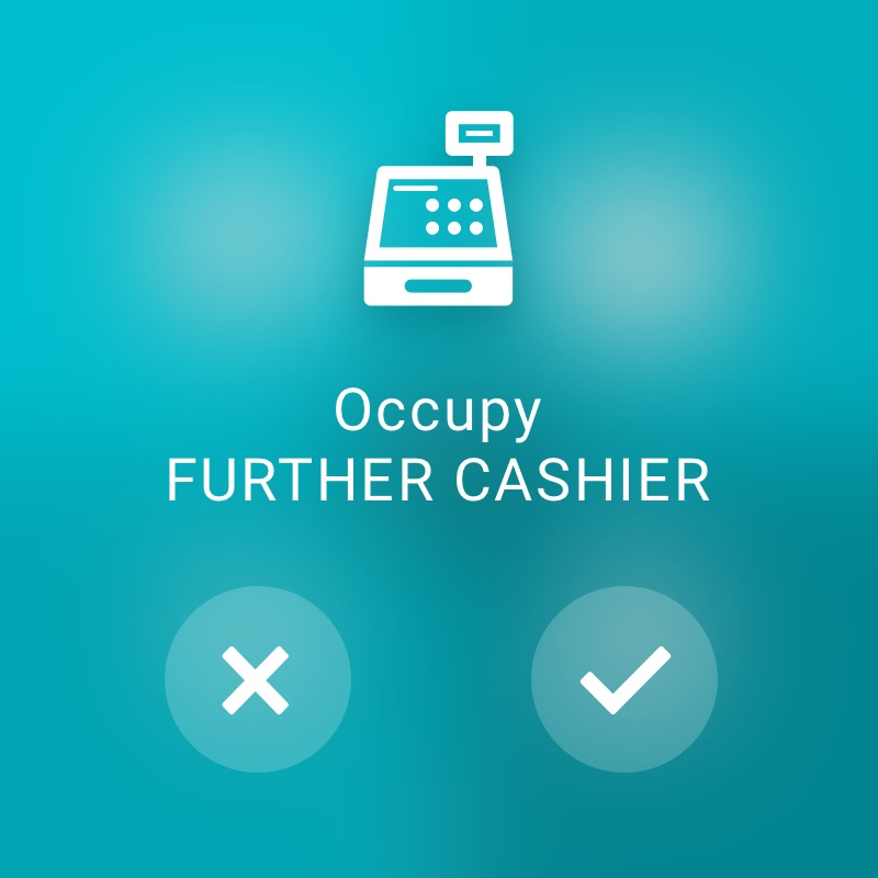 Occupy another cash register - ReAct Watch User Interface Retail