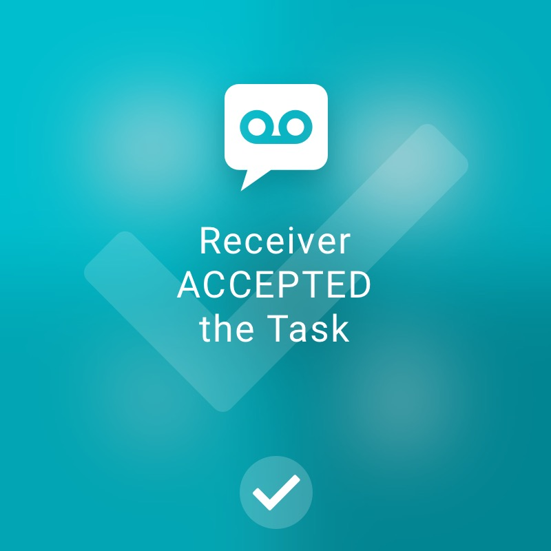 Recipient has accepted task - ReAct Watch User Interface Healthcare