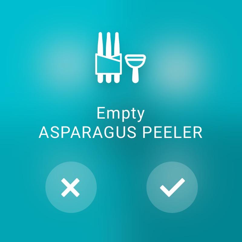 Check Asparagus Peeler - ReAct Watch User Interface Retail