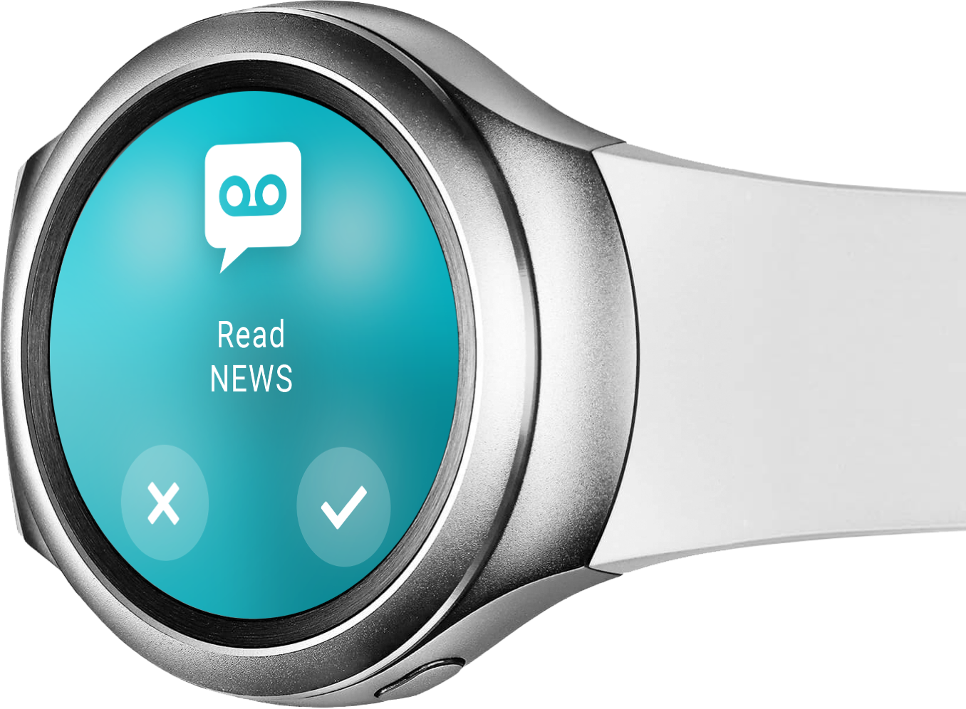 """Smartwatch """"Read news"""" - ReAct """"Call to Action"""" App"""