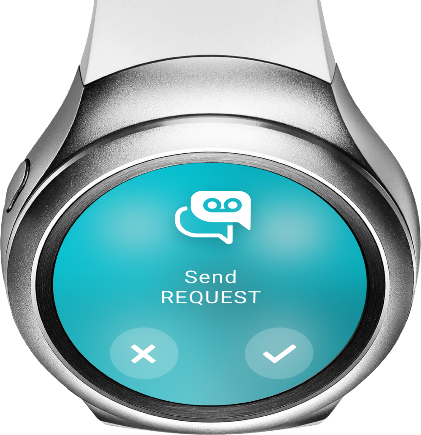 """Smartwatch """"Send Request"""" - ReAct """"Call to Action"""" App"""