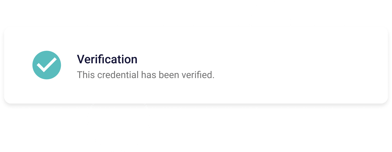 Element showing verification on VerifyEd has completed.