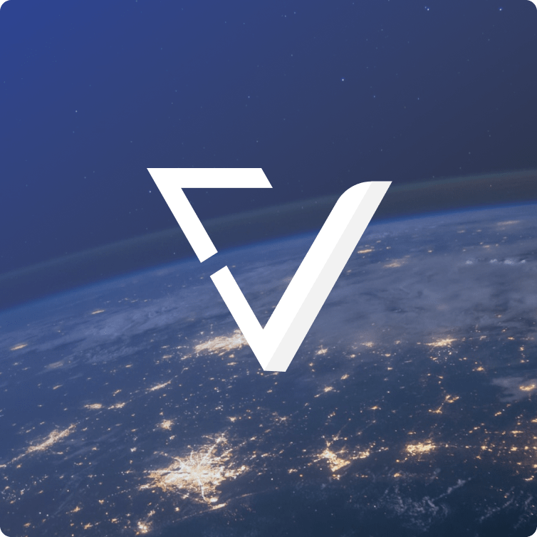 VerifyEd logo over Earth.