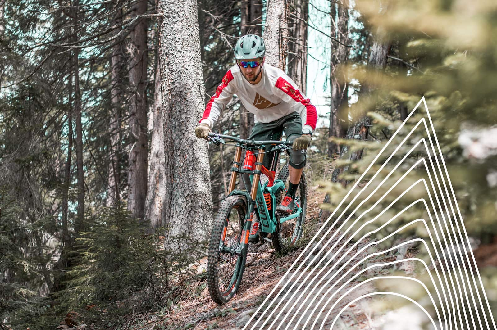 Sportpark Aare-Rhein Biker im Wald