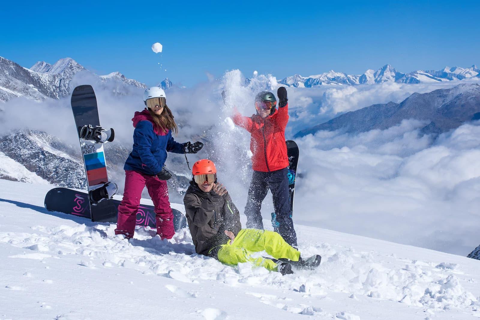 Sportpark Aare-Rhein Snowboard Schneeball