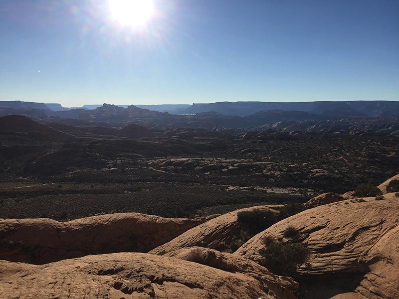 overlook of desert views