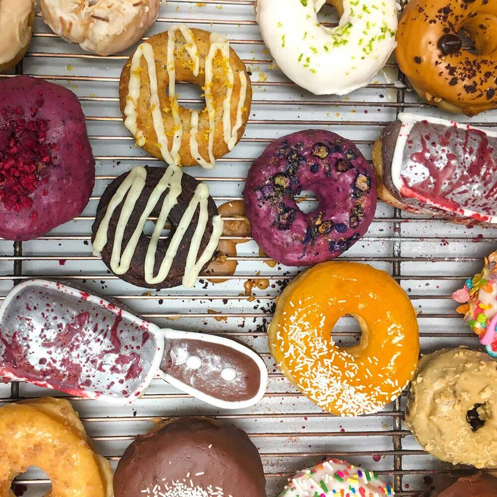 A variety of donuts from Trejo's Coffee & Donuts