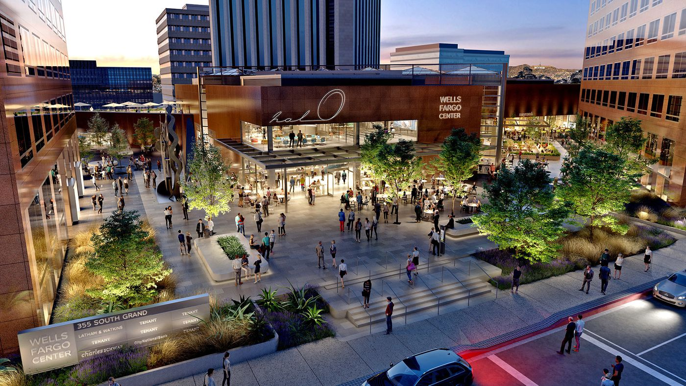 The New York-based landlord of Wells Fargo Center has embarked on a $60-million makeover of the atrium that will create an indoor-outdoor environment dubbed Halo. (Brookfield Properties)