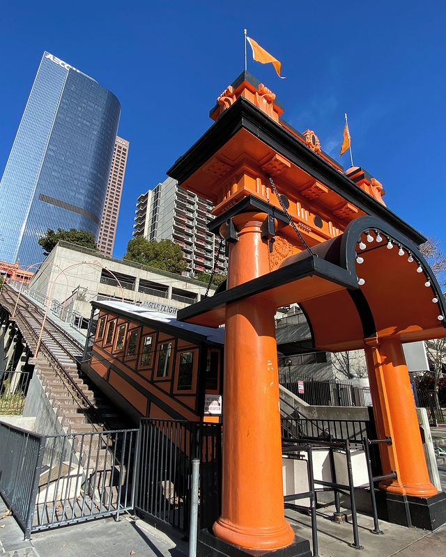 Take a ride back in time on the 120 year old #AngelsFlight up Bunker Hill to Halo. The world's shortest railway, it has given more than 100 million rides since 1901.