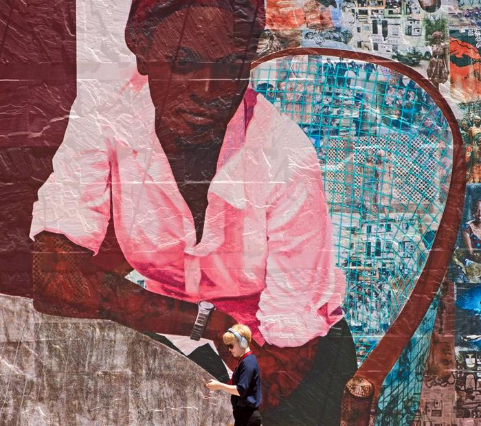 Fine art mural at MOCA in Downtown Los Angeles