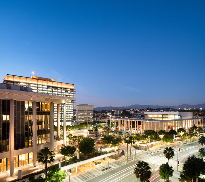 The Music Center for performing arts in Downtown Los Angeles