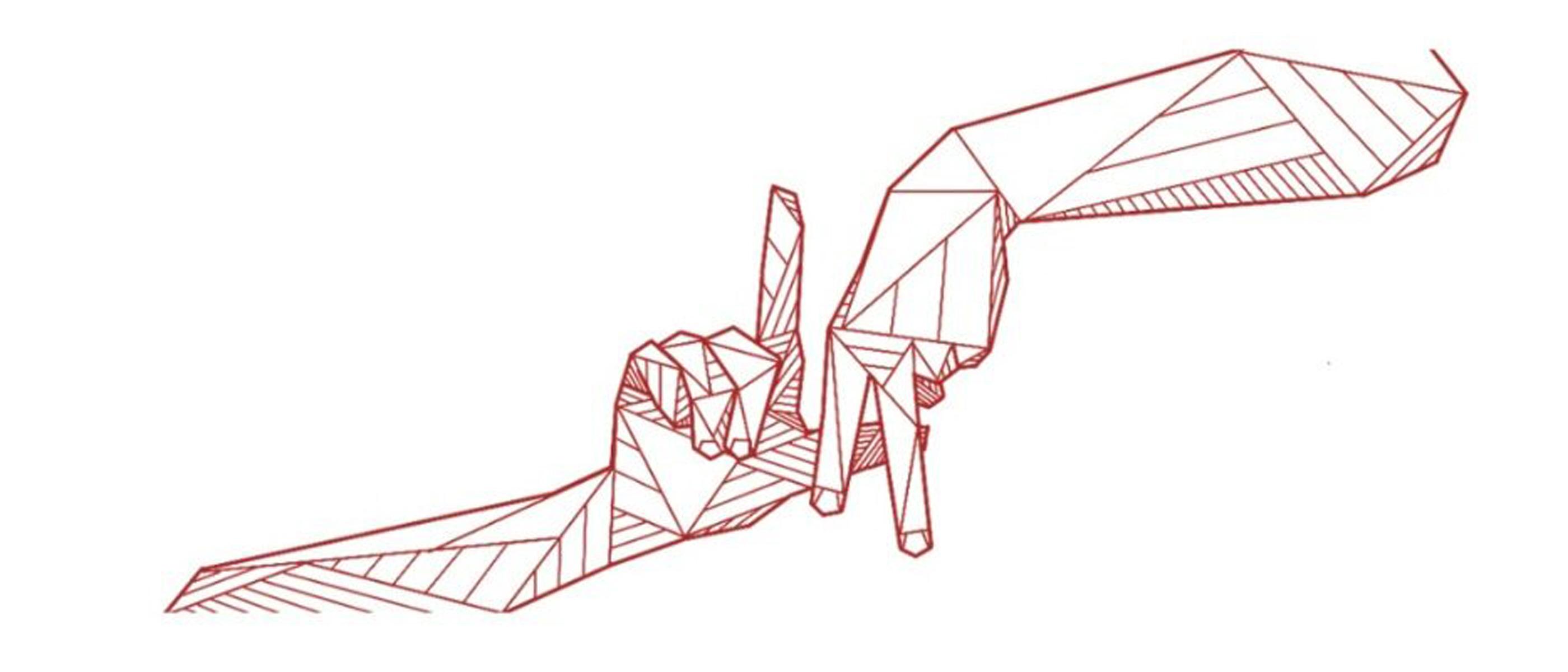 Allison Kunath LA LOVE mural sketch
