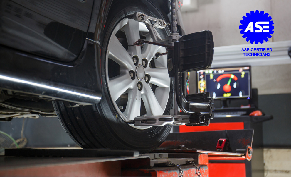 Image of a car being worked on