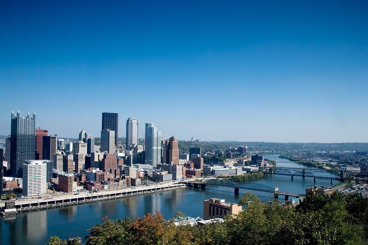 Downtown Pittsburgh skyline during the day