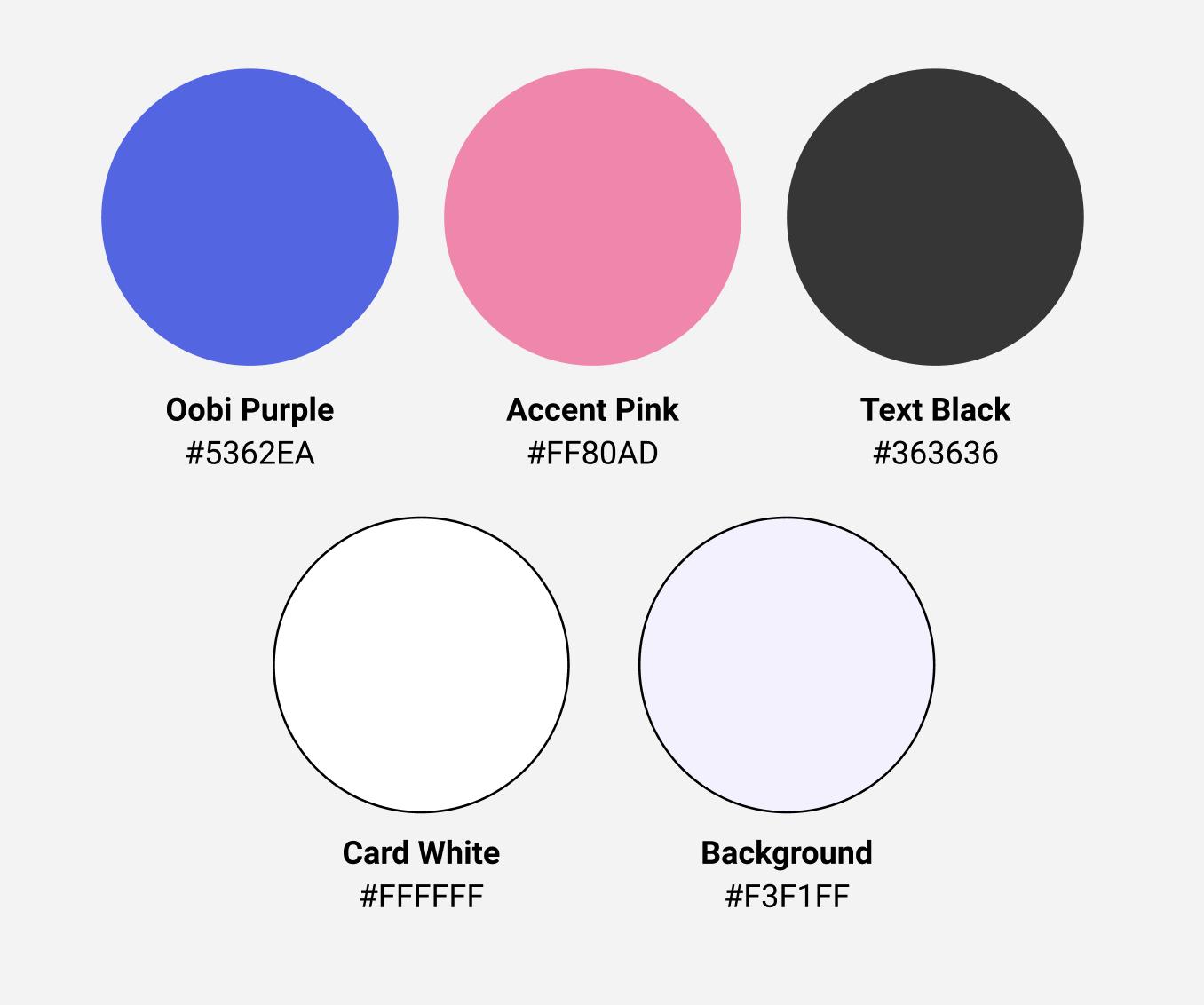 Oobi visual system color palette