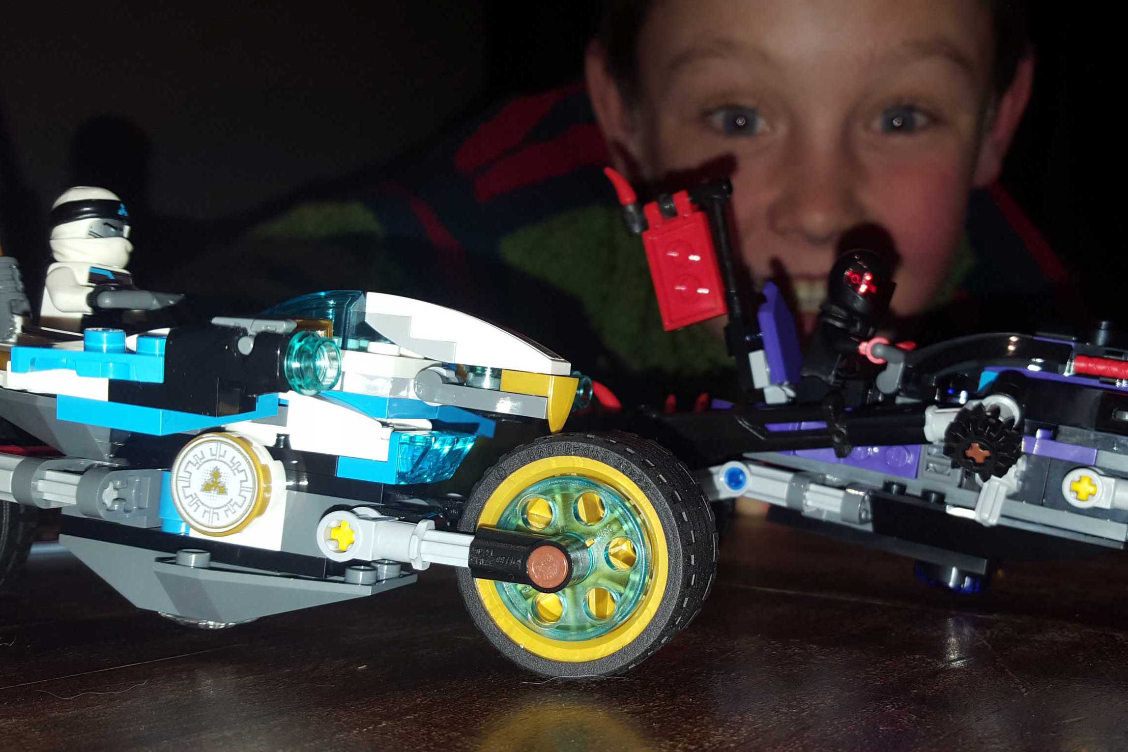 Kid with lego