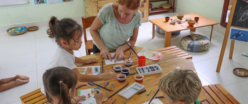 Classroom teacher at Green shoots international school Hoi An Vietnam.