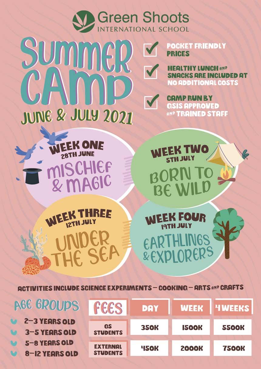 Green shoots school summer camp