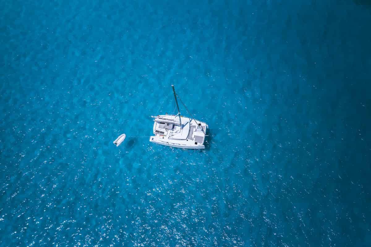 lagoon-catamaran-in-the-sea