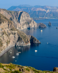Aeolian Islands coastline
