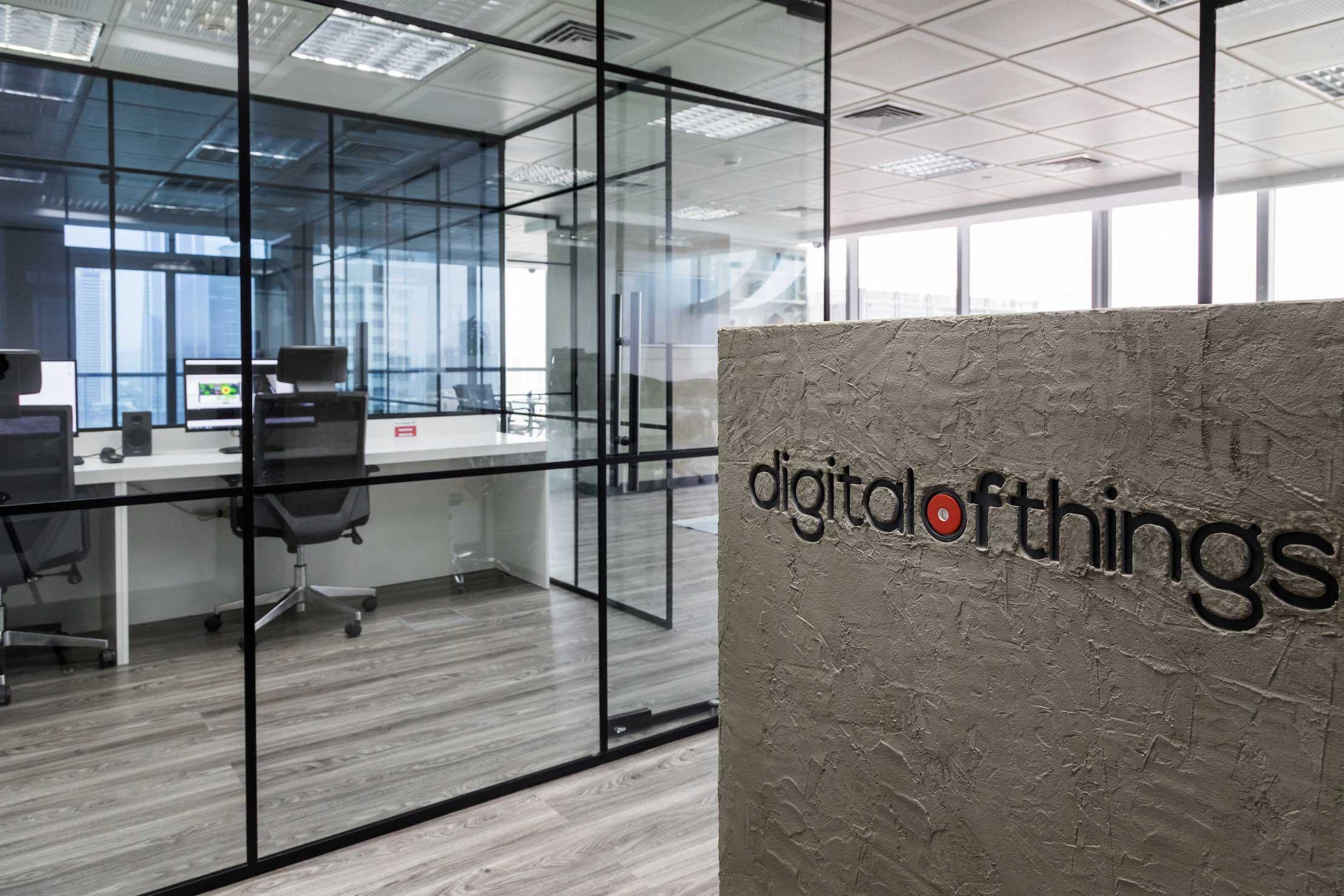 Office entrance of digital of things
